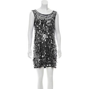 Gunmetal Tory Burch silk mini dress size 4